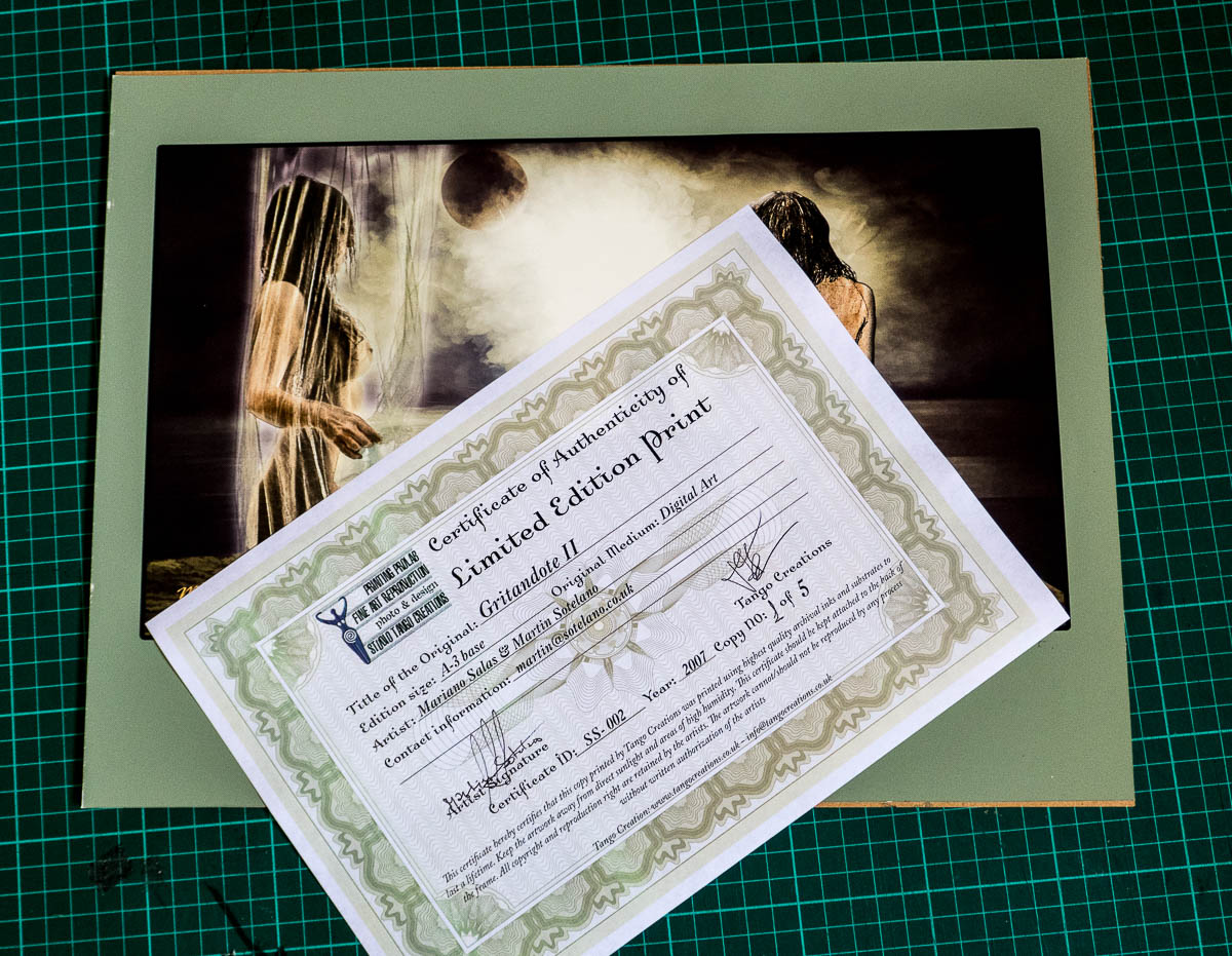 Limited Edition certificate