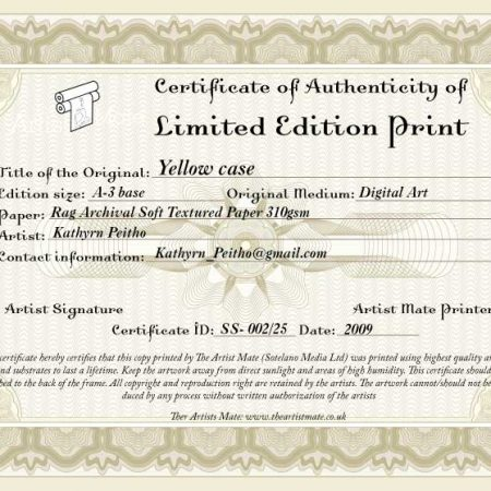 Limited Edition certificates